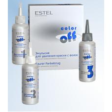 Эмульсия COLOR off для удаления краски с волос коробка 3х120мл