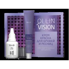OLLIN VISION SET black (черный) Крем-краска для бровей и ресниц 20мл (в наборе)